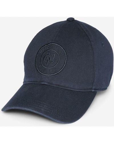 Хлопковая синяя кепка с вышивкой Marc O`polo
