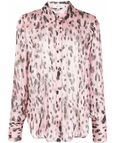 Różowa koszula z printem Milly