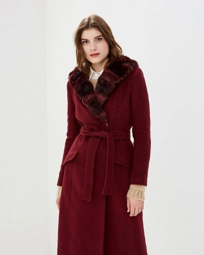 Пальто демисезонное бордовый Style National