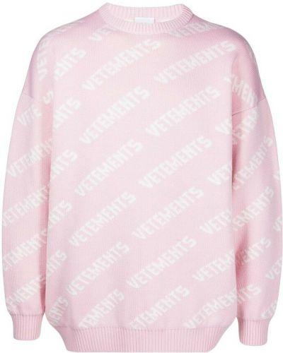 Różowy sweter Vetements