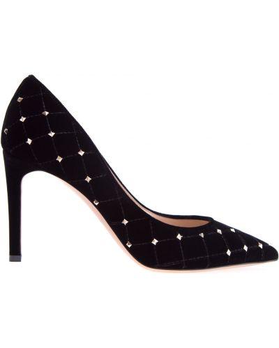 Туфли-лодочки на высоком каблуке кожаные Valentino