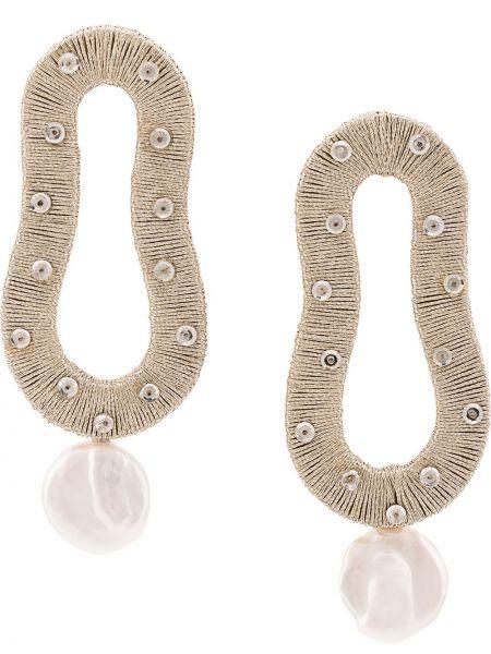 Серьги-гвоздики металлические с бисером Lizzie Fortunato Jewels