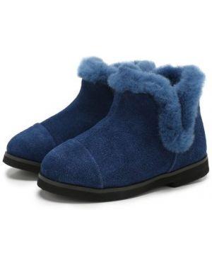 Синие кожаные ботинки с подкладкой Age Of Innocence