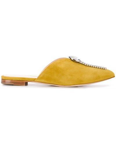Мюли на каблуке желтый Chloe Gosselin