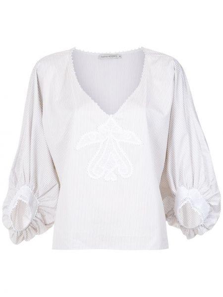 Блузка кружевная в полоску Martha Medeiros