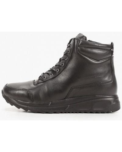 Кожаные черные высокие кроссовки Thomas Munz