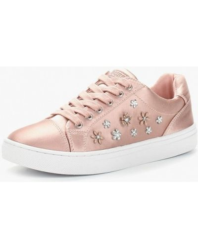 Розовые низкие кеды Guess