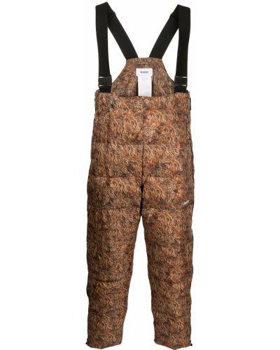 Brązowe spodnie z printem Doublet