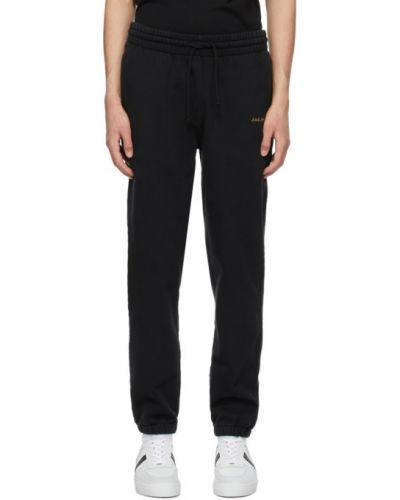 Черные брюки с карманами с манжетами Axel Arigato