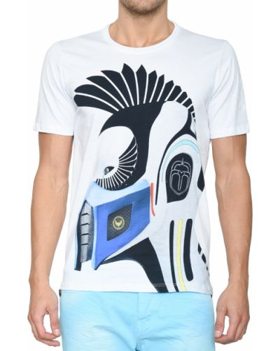 Хлопковая футболка - белая Frankie Morello
