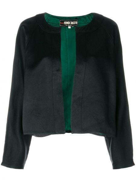 Черная короткая куртка Fendi Pre-owned