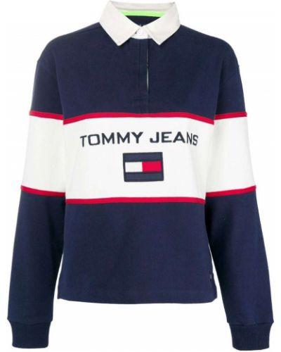 Поло с логотипом в рубчик Tommy Jeans