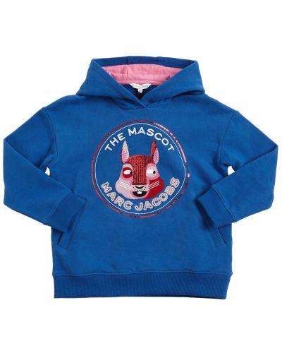 Синяя кофта с капюшоном Little Marc Jacobs