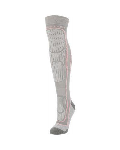 Серые компрессионные шерстяные спортивные носки Glissade