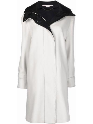Белое шерстяное пальто Stella Mccartney