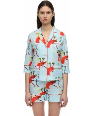 Рубашка с принтом с карманами Laura Urbinati
