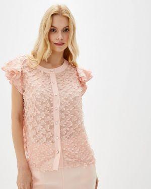 Блузка с коротким рукавом розовая весенний Gepur