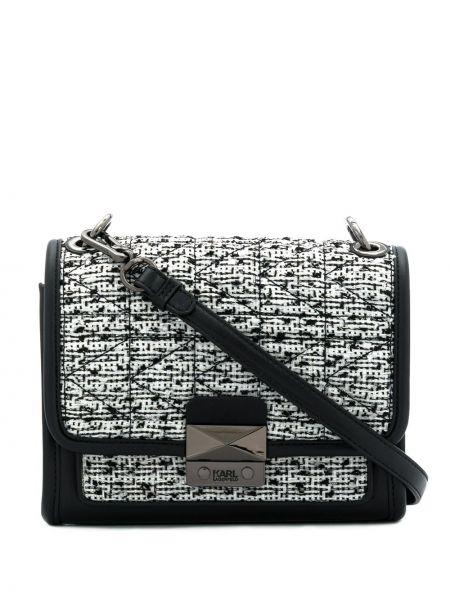 Кожаная сумка на плечо текстильная Karl Lagerfeld