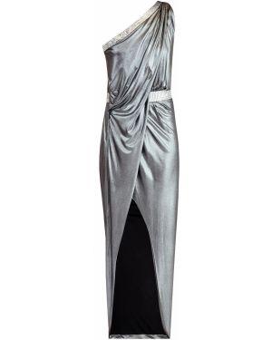 Вечернее платье на одно плечо макси Balmain