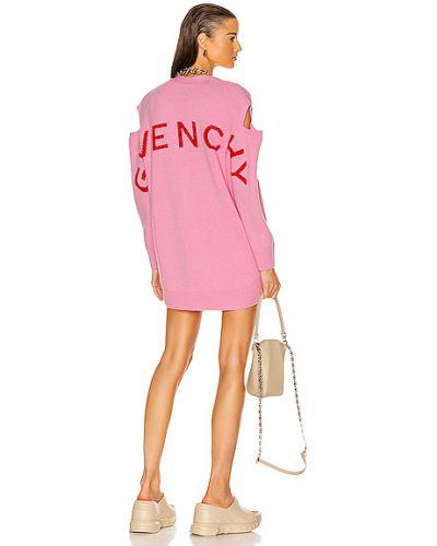Różowy kardigan oversize wełniany Givenchy