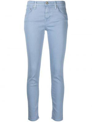 Хлопковые синие джинсы на пуговицах Jacob Cohen