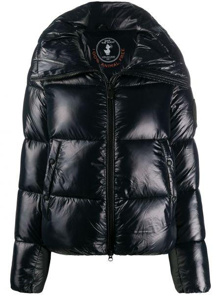 Нейлоновая черная длинная куртка с карманами с длинными рукавами Save The Duck
