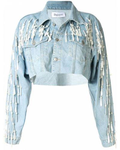 Классическая синяя джинсовая куртка на пуговицах Dalood