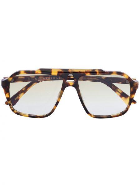 Brązowe okulary z akrylu na plażę Kirk Originals