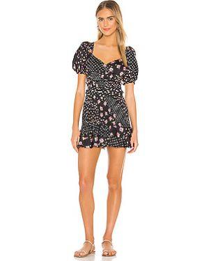 Платье мини с поясом с рукавами For Love & Lemons