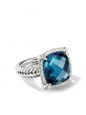 Кольцо с топазом - синее David Yurman