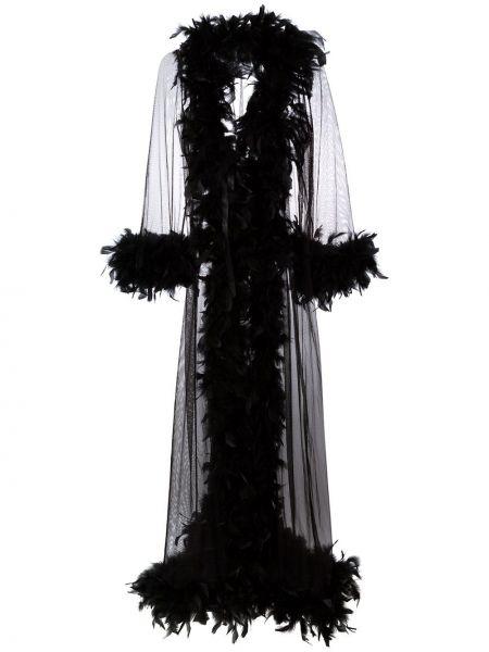 Черный халат Folies By Renaud