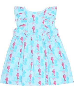Niebieska sukienka bawełniana Rachel Riley