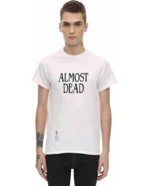 Różowy t-shirt bawełniany z printem Darkoveli