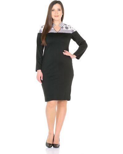 С рукавами трикотажное платье с воротником Rosa Blanco