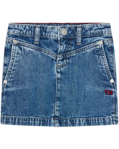 Spódnica jeansowa - granatowa Tommy Hilfiger