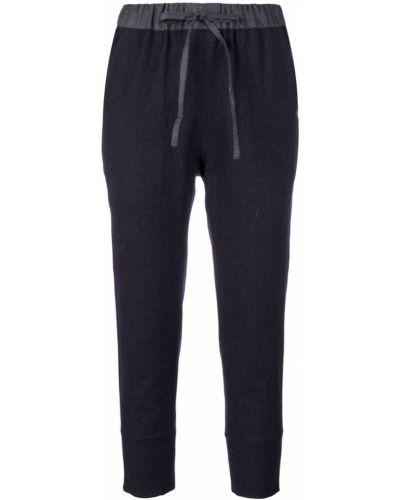 Темно-синие укороченные брюки с поясом école De Curiosités