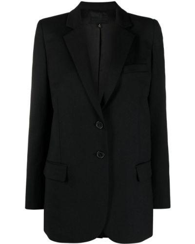Однобортный черный удлиненный пиджак с карманами Nili Lotan