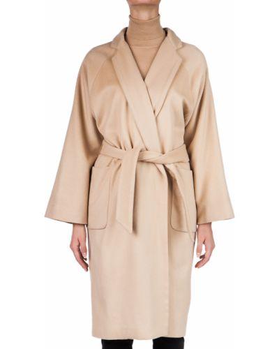 Шерстяное пальто - бежевое Elisabetta Franchi