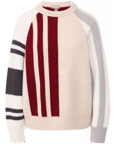 Свободные бежевый шерстяной свитер свободного кроя Mrz