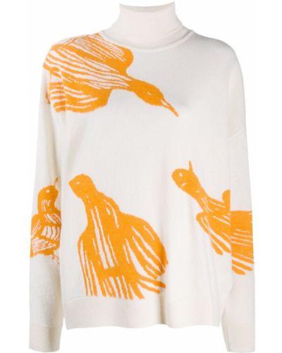 С рукавами свитер свободного кроя из альпаки в рубчик Christian Wijnants