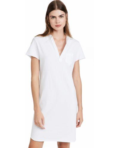 Платье с воротником - белое Frank & Eileen