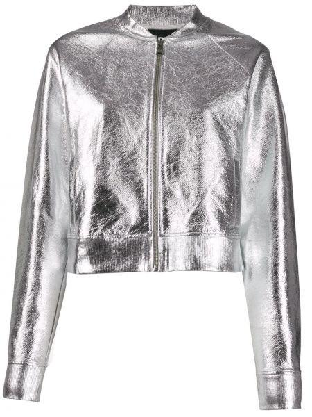 Długa kurtka srebro Karl Lagerfeld