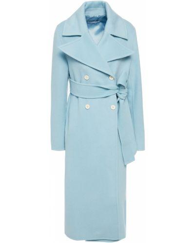 Синее фетровое пальто Rejina Pyo