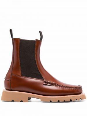 Brązowe ankle boots Hereu