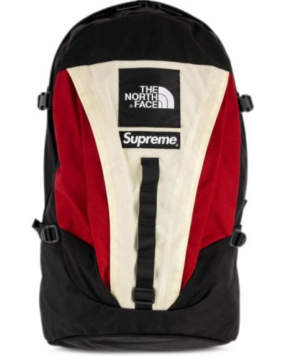 Biały plecak z klamrą Supreme