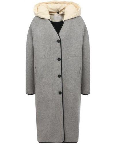 Серое шерстяное пальто Tela