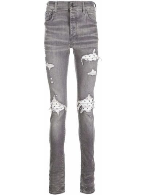 Серые джинсы скинни Amiri