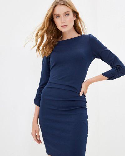 Синее платье-футляр Rinascimento
