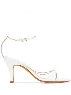Białe złote sandały klamry Maryam Nassir Zadeh