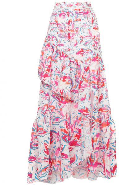С завышенной талией юбка макси с оборками в цветочный принт Peter Pilotto